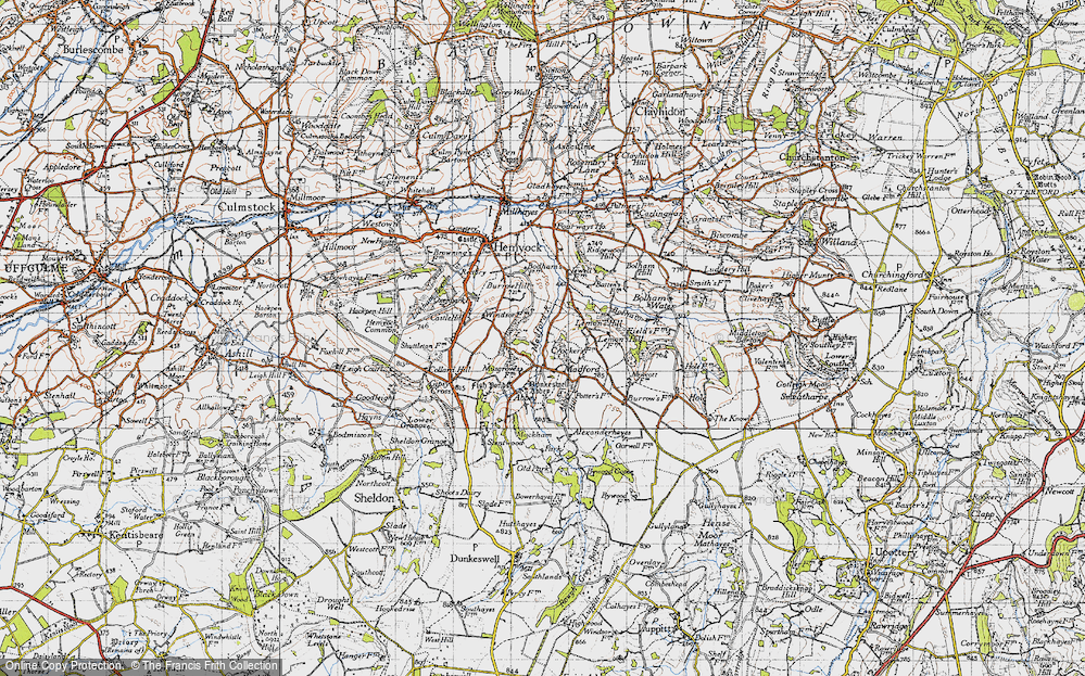 Old Map of Historic Map covering Lemon's Hill in 1946