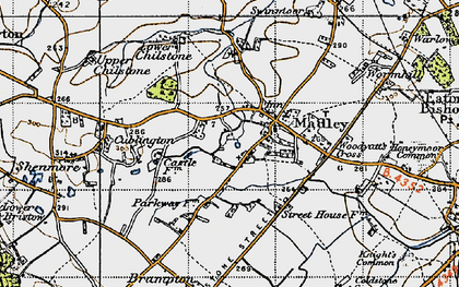 Old map of Madley in 1947