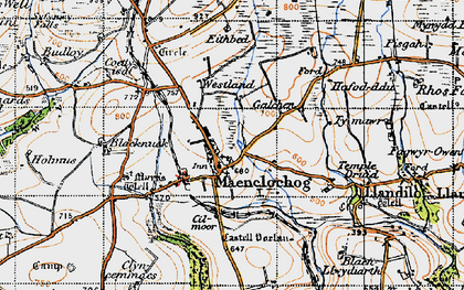 Old map of Maenclochog in 1946