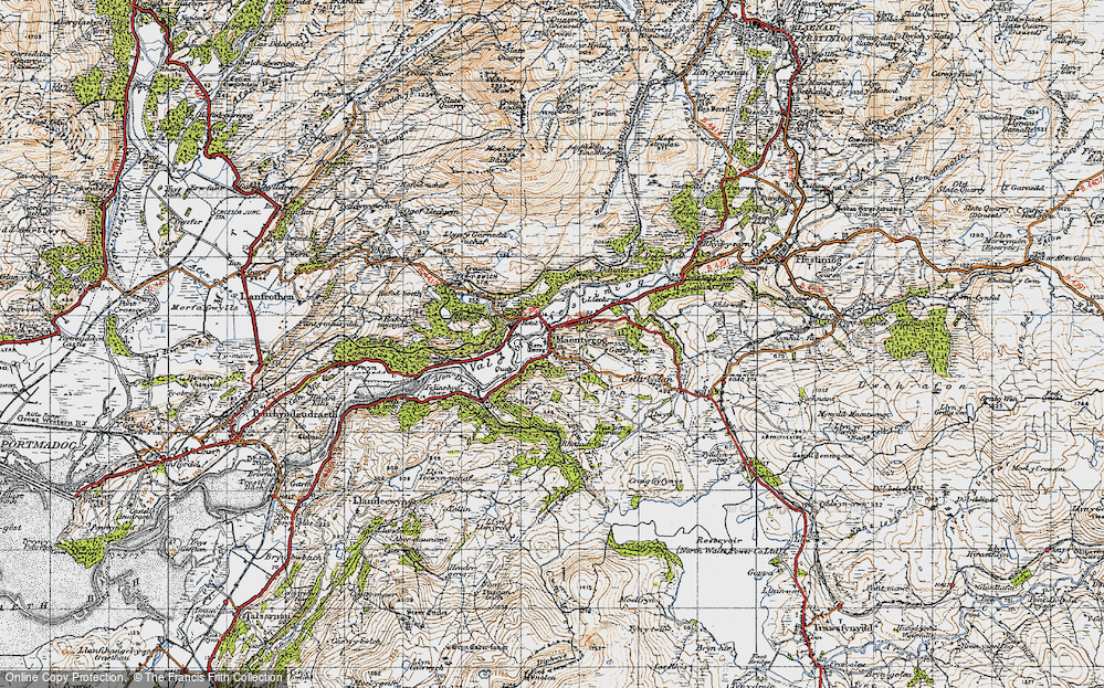 Old Map of Maentwrog, 1947 in 1947