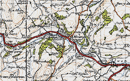 Old map of Maerdy in 1947