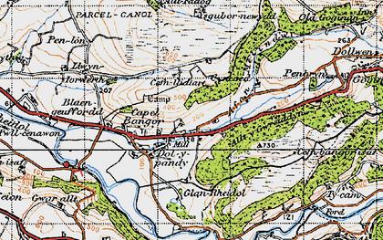 Old map of Allt y Gwreiddyn in 1947