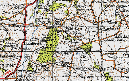 Old map of Tir-y-coed in 1947
