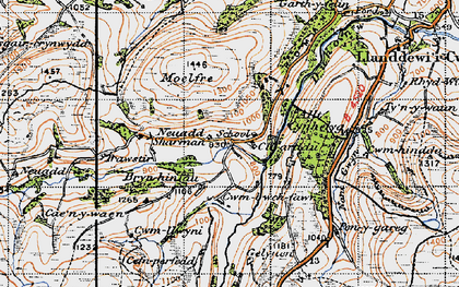 Old map of Allt Cynhelyg in 1947