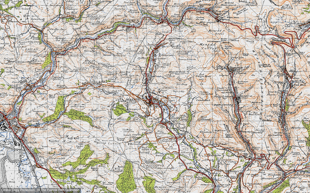 Old Map of Maesteg, 1947 in 1947