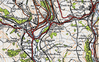 Old map of Maesycwmmer in 1947