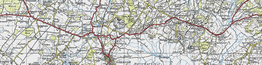Old map of Whelpley Level in 1940