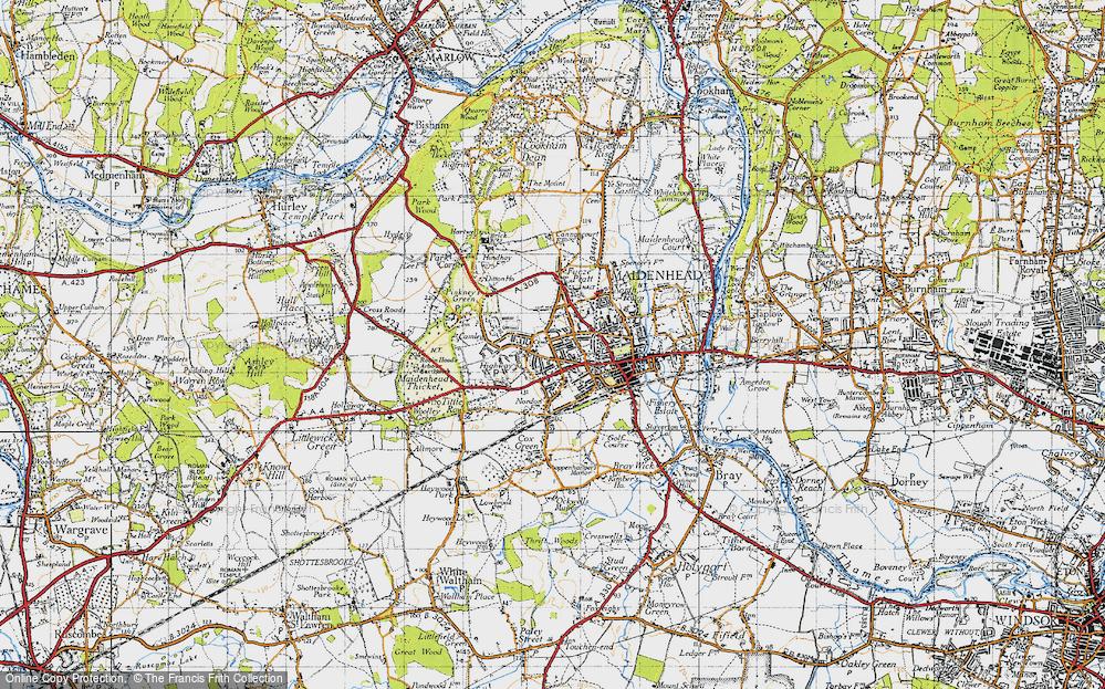 Map Of Maidenhead Map of Maidenhead, 1947   Francis Frith Map Of Maidenhead