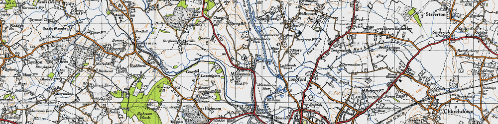 Old map of Abloads Court in 1947