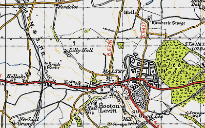 Old map of Maltby in 1947