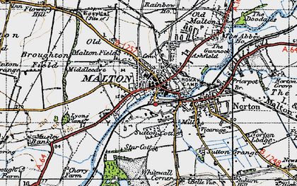 Old map of Malton in 1947