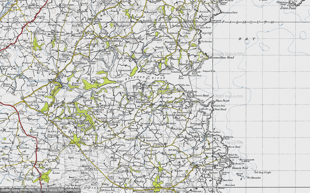 Old Map of Manaccan, 1946 in 1946