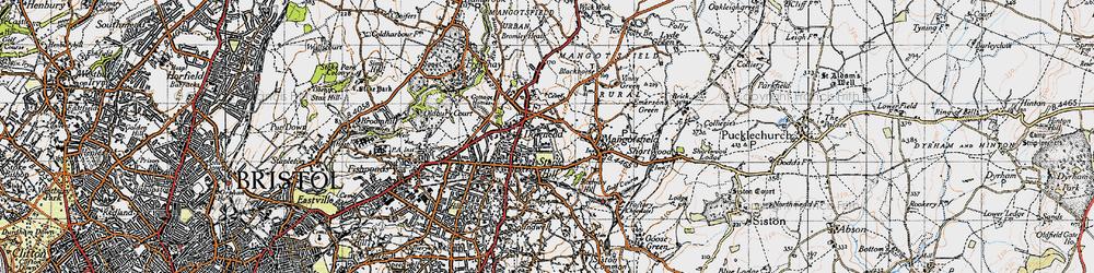 Old map of Mangotsfield in 1946