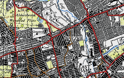 Old map of Manor Park in 1946