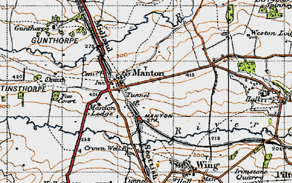 Old map of Manton in 1946