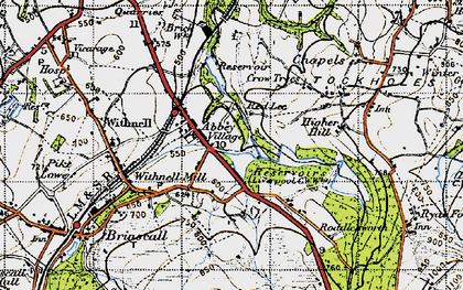 Old map of Abbey Village in 1947
