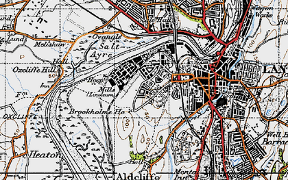 Old map of Abraham Heights in 1947