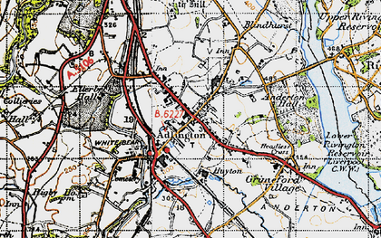 Old map of Adlington in 1947
