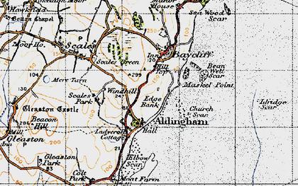 Old map of Aldingham in 1947