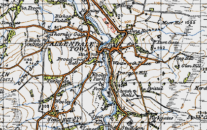 Old map of Allendale Town in 1947