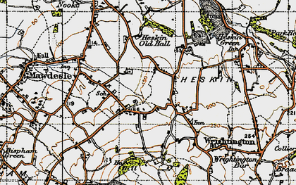 Old map of Andertons Mill in 1947