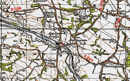 Old map of Appley Bridge in 1947