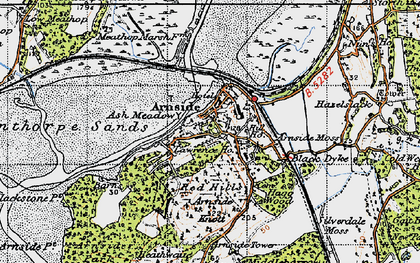 Old map of Arnside in 1947