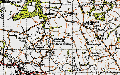 Old map of Ashurst in 1947