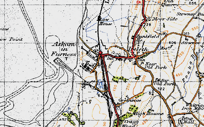 Old map of Askam in Furness in 1947