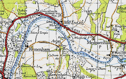 Old map of Aston in 1947