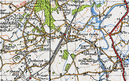 Old map of Barnt Green in 1947