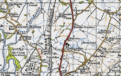 Old map of Barrow in 1947