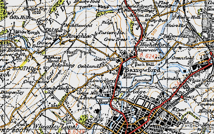 Old map of Barrowford in 1947