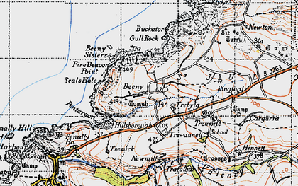Old map of Beeny in 1946
