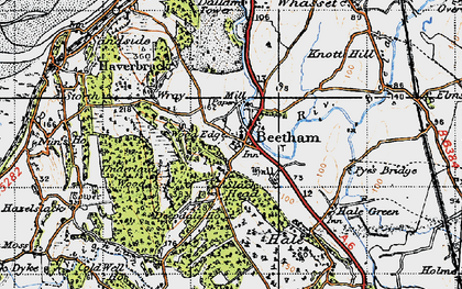 Old map of Beetham in 1947