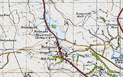 Old map of Belmont in 1947