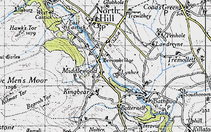 Old map of Berriowbridge in 1946