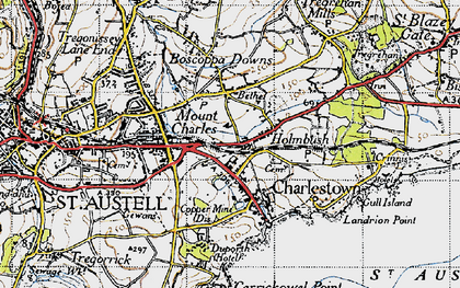Old map of Bethel in 1946