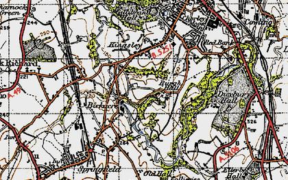 Old map of Birkacre in 1947