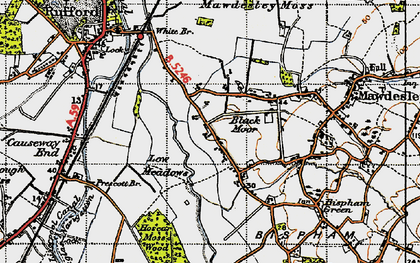 Old map of Black Moor in 1947