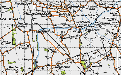 Old map of Blackleach in 1947