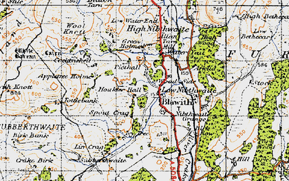 Old map of Blawith in 1947