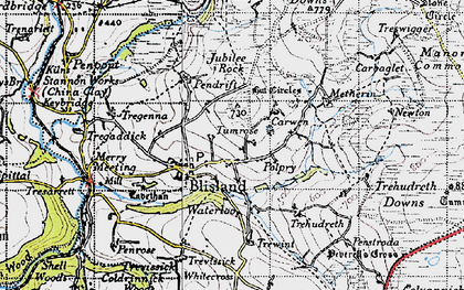 Old map of Blisland in 1946