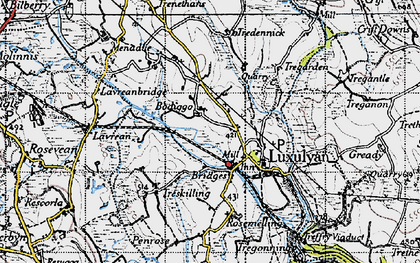 Old map of Bodiggo in 1946