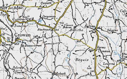 Old map of Bolitho in 1946