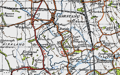 Old map of Bonds in 1947