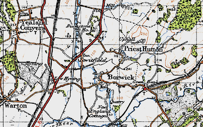 Old map of Borwick in 1947