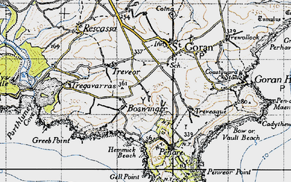 Old map of Boswinger in 1946