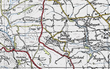 Old map of Botusfleming in 1946