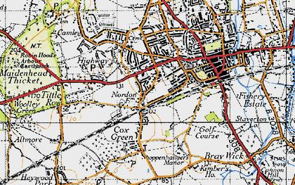Old map of Boyn Hill in 1947